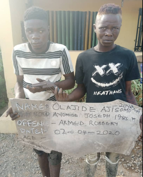Two arrested for robbery in Ogun state
