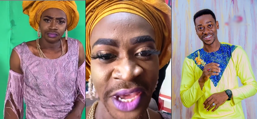 Lateef Adedimeji stirs reactions as he transforms into a stunning woman in a new video