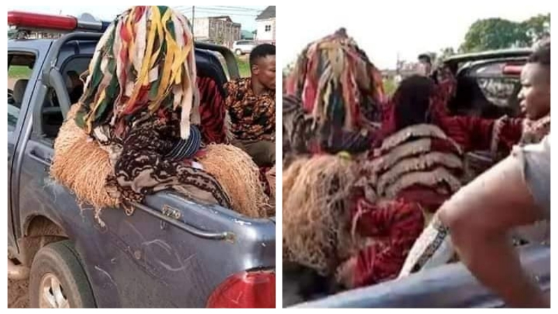 VIDEO: Masquerades arrested in Anambra for defying stay-at-home order during Coronavirus lockdown
