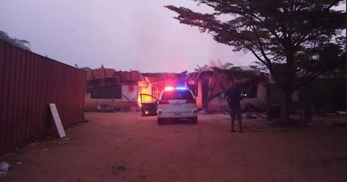 BREAKING: Fire guts INEC office in Abuja