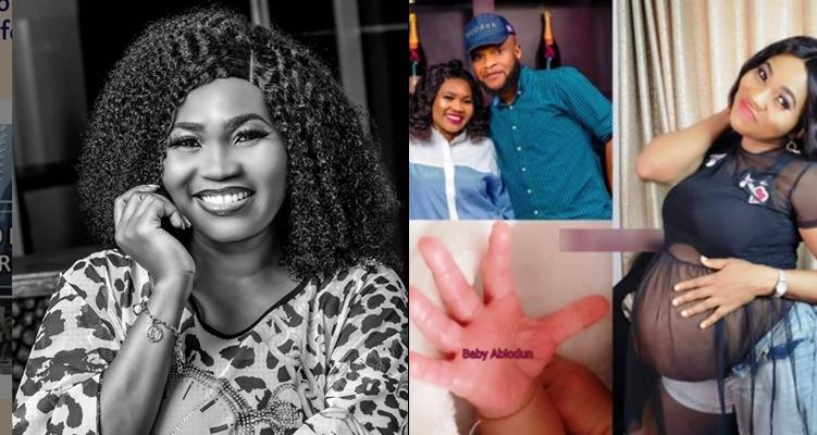 Nollywood actress, Yewande Adekoya welcomes a new baby girl