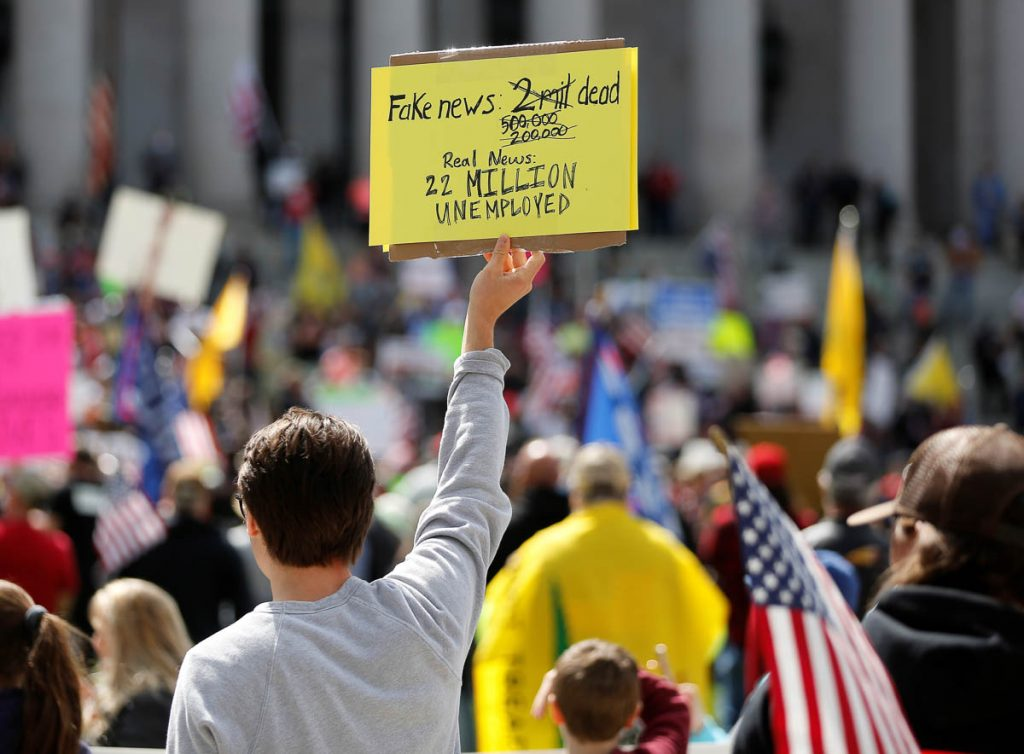 PHOTOS: Thousands protest in US against coronavirus lockdown restrictions