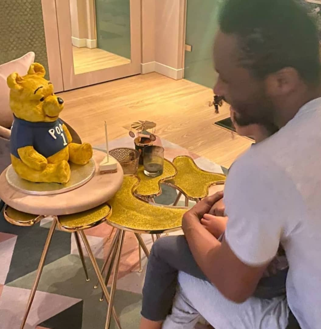 John Mikel Obi celebrates 33rd birthday with his partner and twin daughters at their home (Photos)