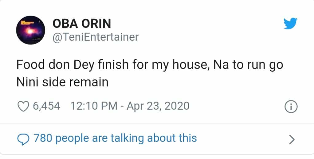 """Lockdown: """"Food Don Dey Finish For My House"""", Singer Teni Cries Out"""