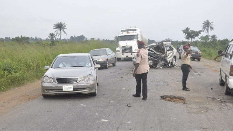 Three escape death in Anambra multiple crash