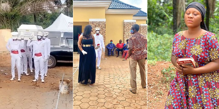 Burial: Actress Destiny Etiko's Father's Corpse Arrives Home