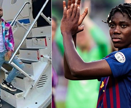 Asisat Oshoala begs for Davido's private jet to return home, says she is stranded in Spain