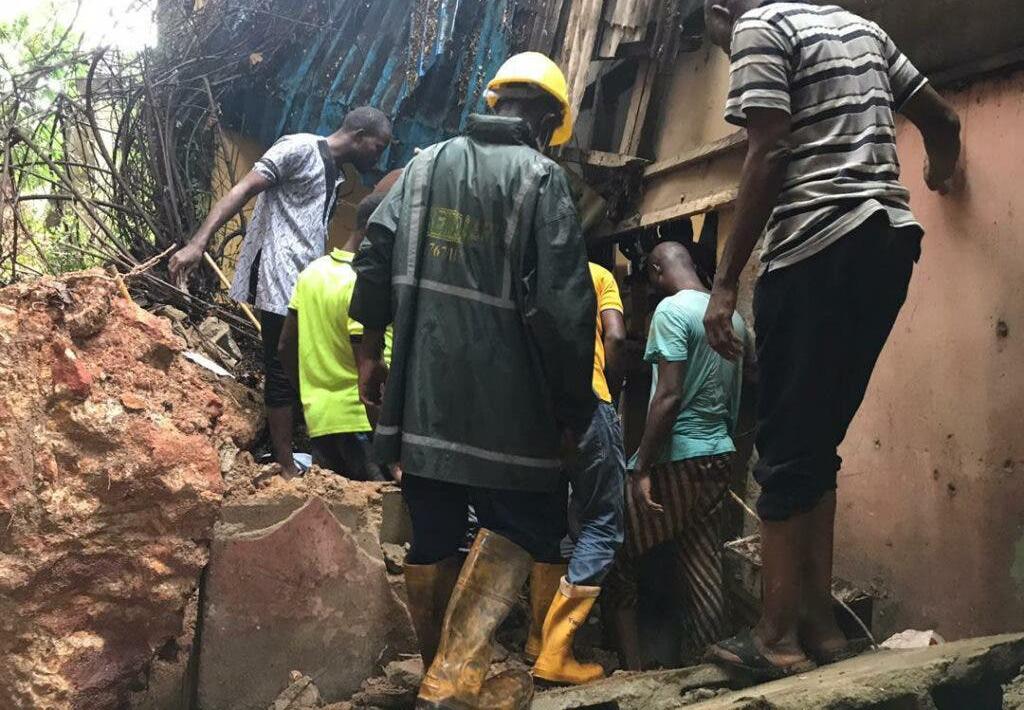 Two die as storey building collapses in Lagos