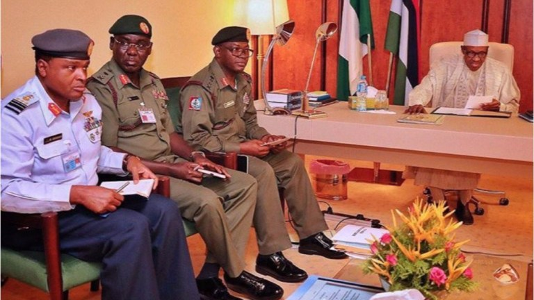 JUST IN: President Buhari, service chiefs in closed-door meeting