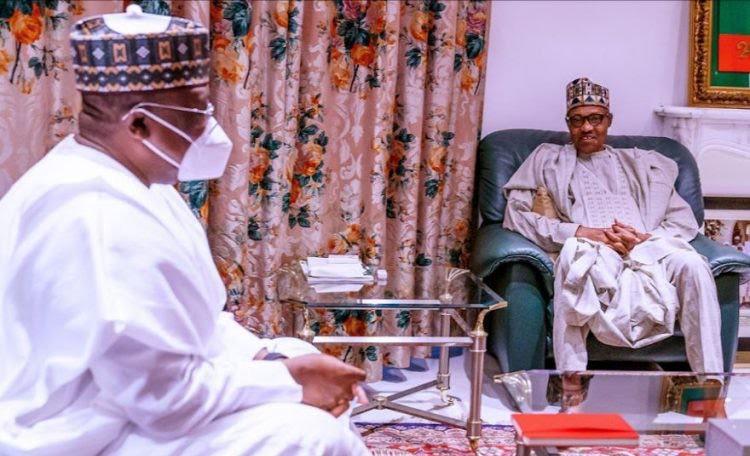 Buhari, Lawan meet over APC crisis, insecurity