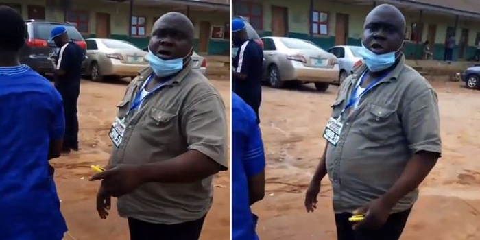 Covid-19 taskforce official in Ogun beats woman in front of her husband (Video)