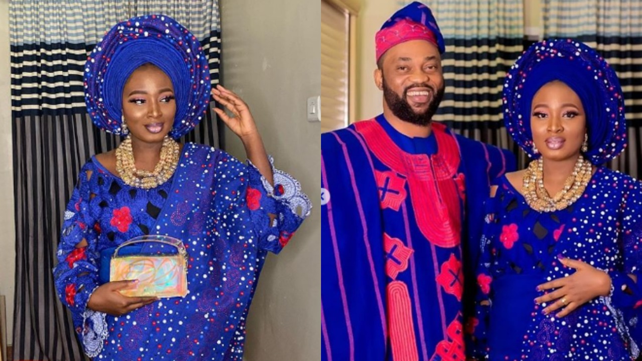 Nollywood lovers in shock after actress, Adebimpe Oyebade shares introduction pictures with Damola Olatunji