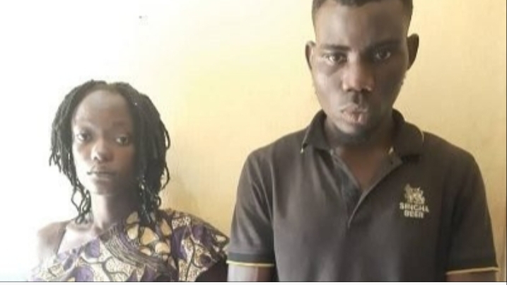 Police arrest couple as wife strips husband's ex girlfriend naked