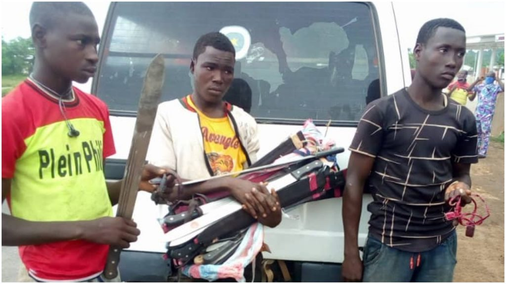 Amotekun corps intercepts Northern youths, seize weapons and charms