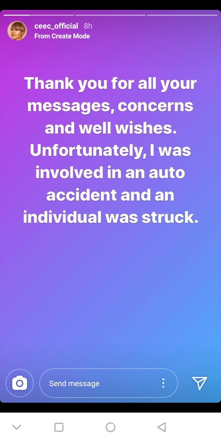 CeeC gives update on the car incident