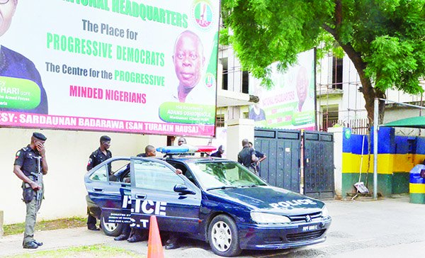 Police seal APC National Secretariat for the second time amid party crisis