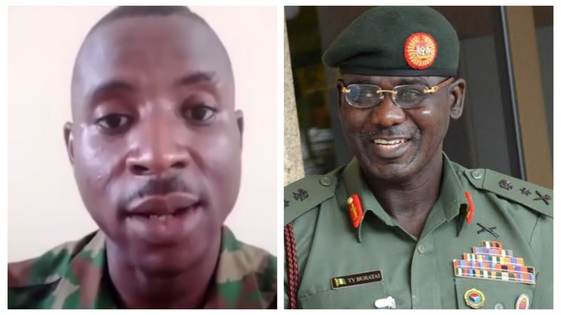 VIDEO: Nigerian soldier arrested for blasting the Chief of Army staff over incessant killings