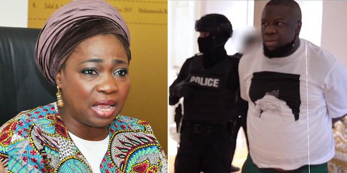 Abike Dabiri-Erewa reacts to the viral video of Hushpuppi's arrest