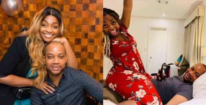 Davido's Sister, Sharon monitors her husbands IG page, as she warns off admirers