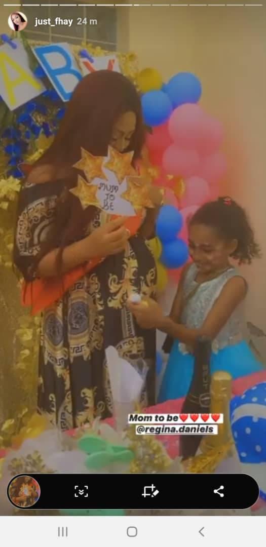 Photos from Regina Daniels' surprise baby shower