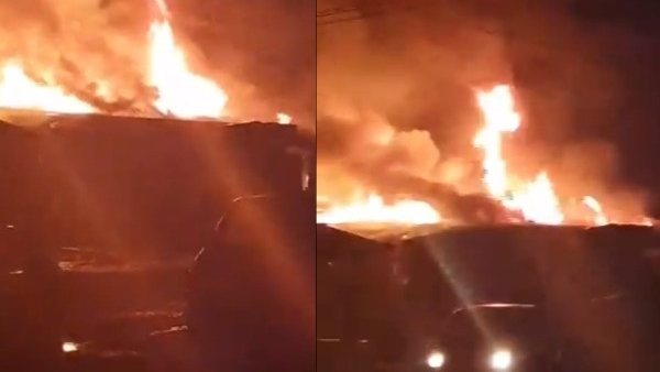 VIDEO: Traders lament loss as fire razes 11 shops, destroys good worth millions in Lagos