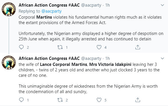 Group drags Nigerian army to court over illegal detention of soldier and his wife for criticising killings and sceurity chiefs