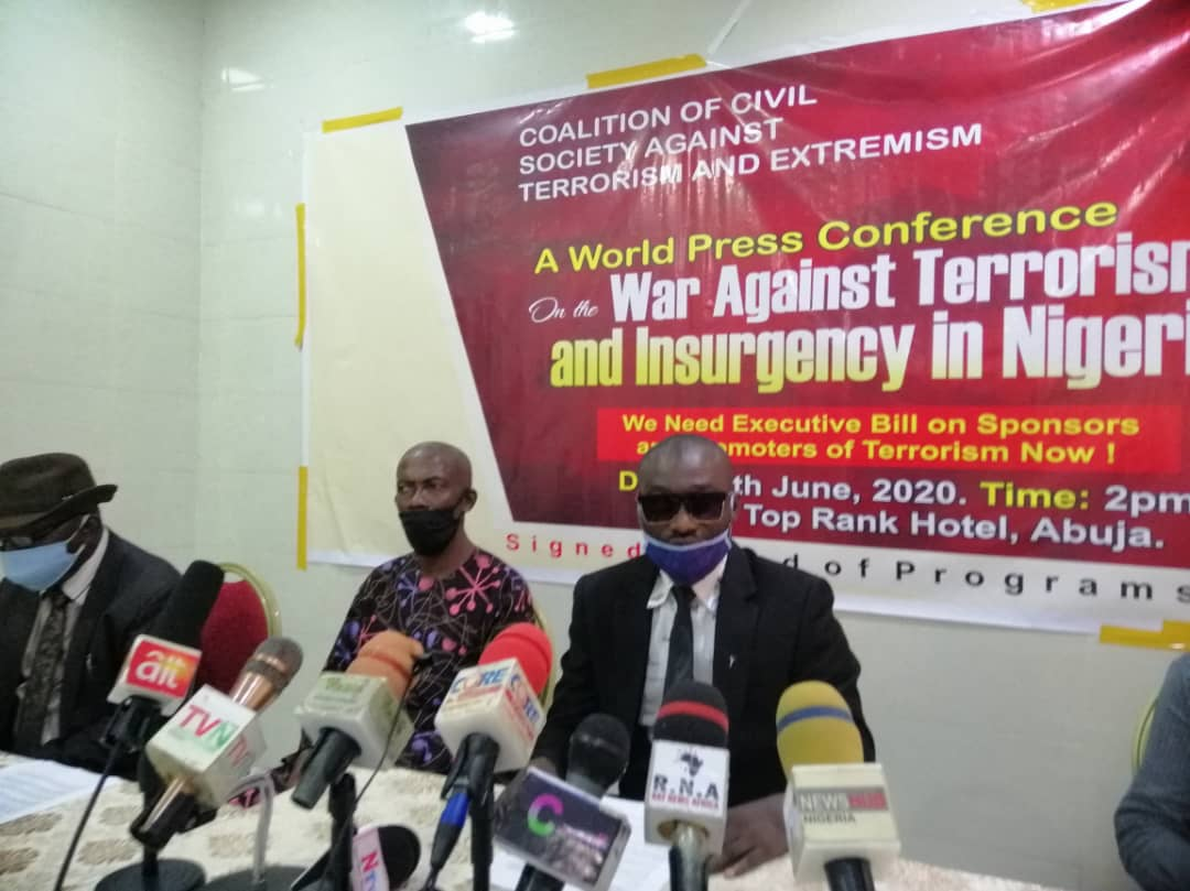 Insecurity: Coalition on terrorism  makes demand on PMB to sign executive order for prosecution of sponsors, promoters of Boko Haram