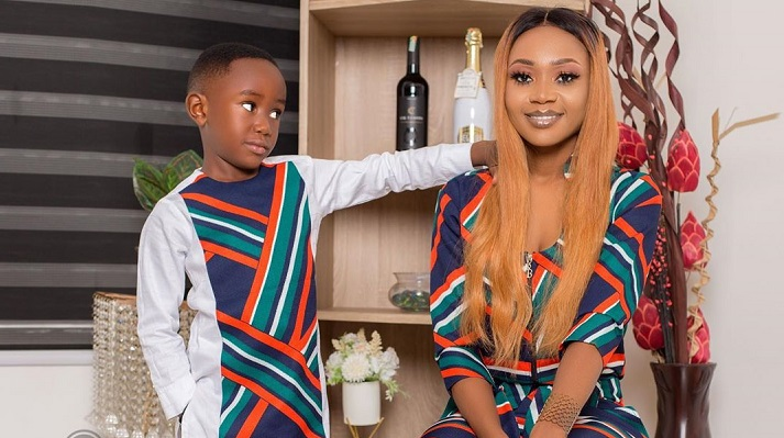 Akuapem Poloo gives reasons why she appeared unclad in photoshoot with son