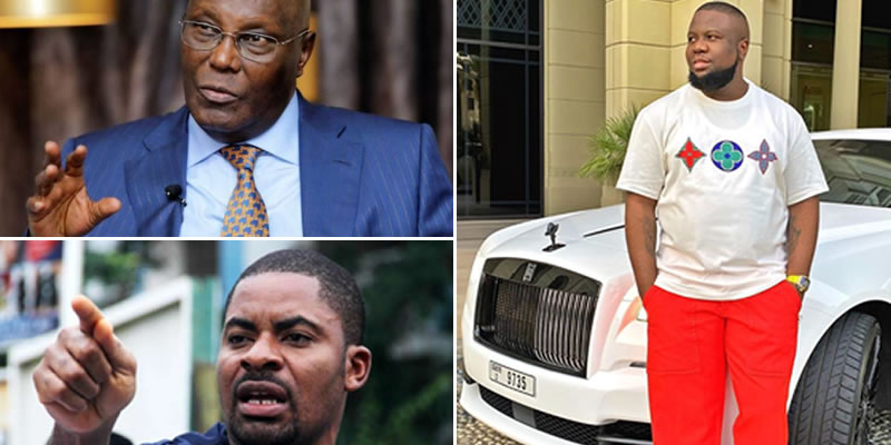 Hushpuppi: Group wants FBI, Interpol to question Atiku, Deji Adeyanju over possible link to alleged fraudster