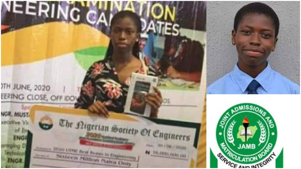 Nigerian Society of Engineers reward student with highest JAMB score a sum of N16million