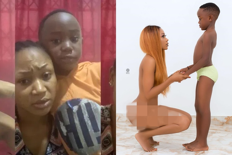Akuapem Poloo's Son Pleads With Ghanaians To Forgive His Mom Over Nude Photos – Video