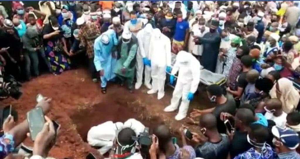 Ondo Health Commissioner, Wahab Adegbenro buried amid tears