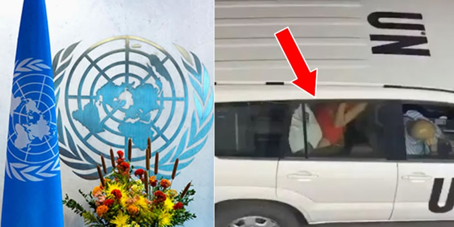 UN suspends 2 officials in viral car-sex video