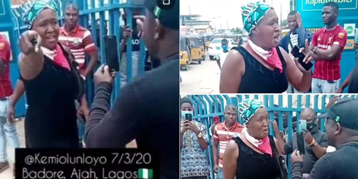 VIDEO: Kemi Olunloyo clashes with SARS officials in Lagos