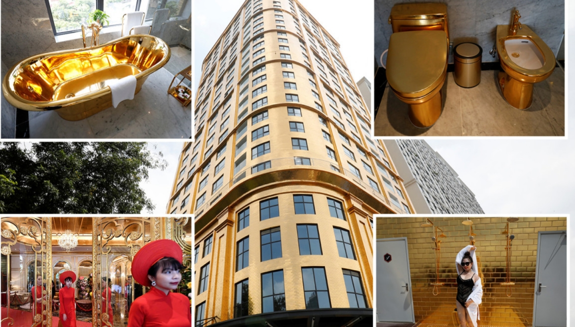 VIDEO: World's 'first' gold-plated hotel opens in Vietnam