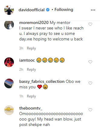 Davido's fans weep as singer abandons them on social media
