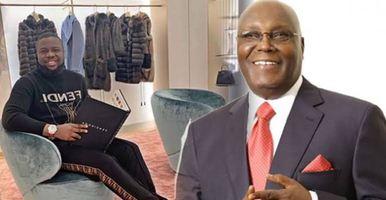 Former Vice President, Atiku Abubakar denies having any link with Hushpuppi