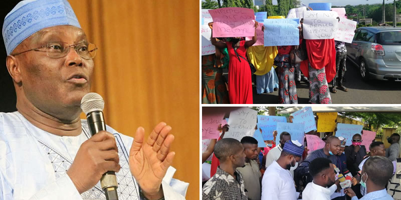 Hushpuppi: Protest rocks US Embassy as Nigerians demand forensic investigation of Atiku, Timi Frank over links with alleged cyber-fraudster