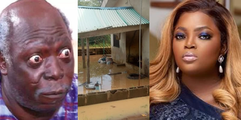 Flood Eviction: Funke Akindele Gifts Nollywood Veteran, Pa James a new house