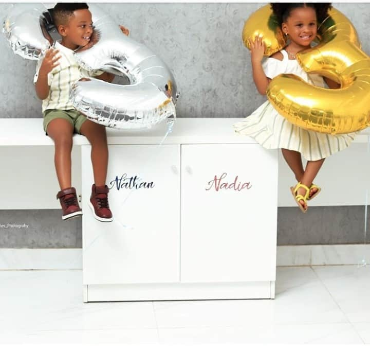 Paul Okoye and wife Anita celebrate their twins 3rd birthday with adorable new photos