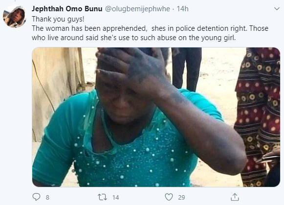 Police arrest aunt for pouring hot water on her niece