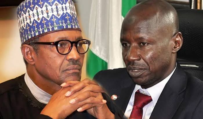 Buhari breaks silence over Magu's probe, suspension