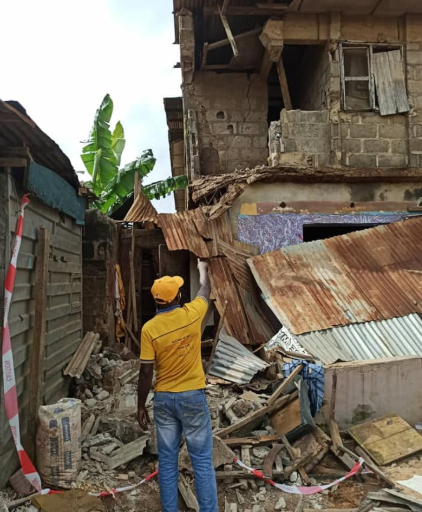 PHOTOS: Tragedy as another building partially collapses in Lagos