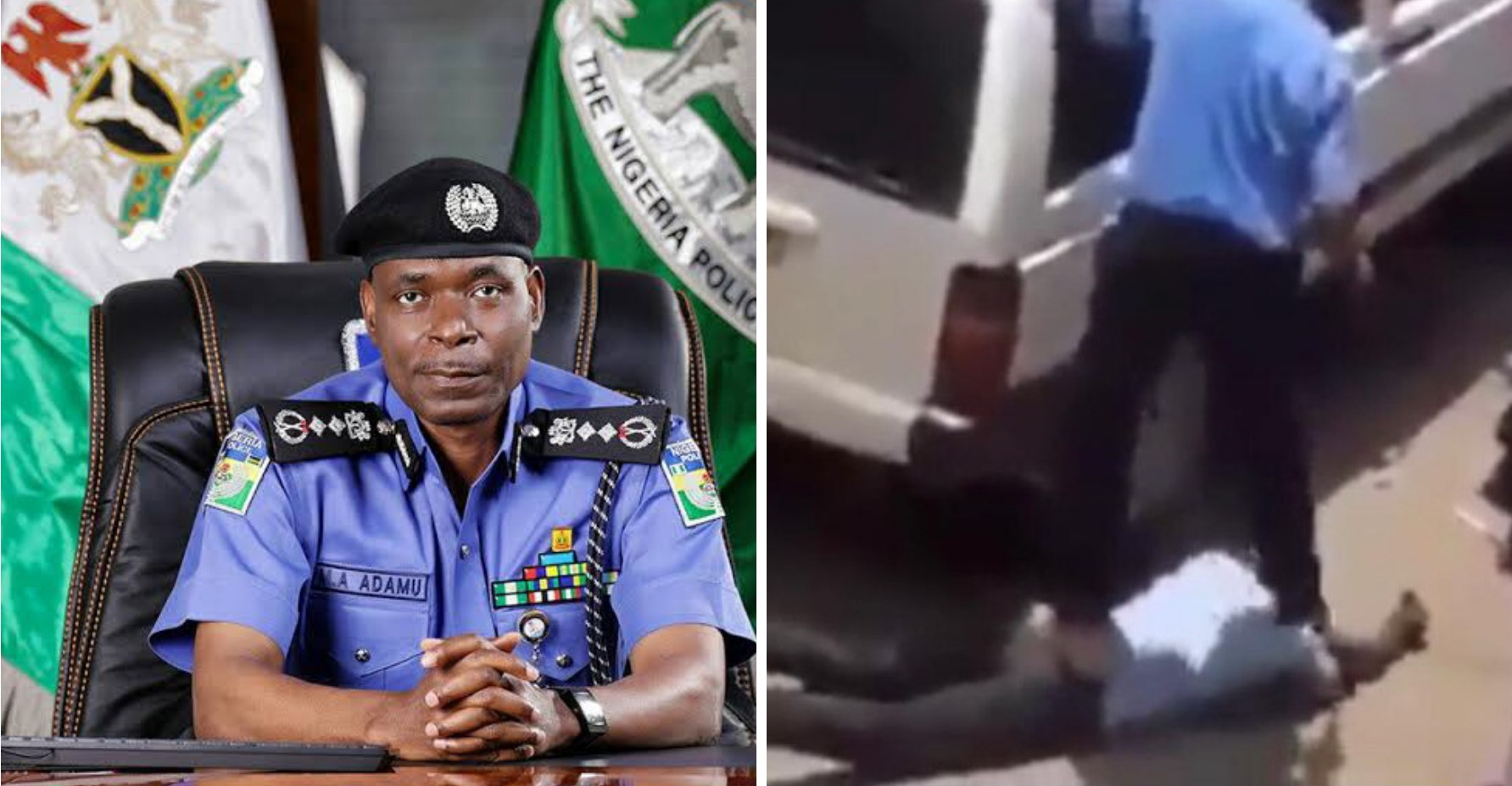 Nigeria Police reacts to viral video of security officer assaulting man