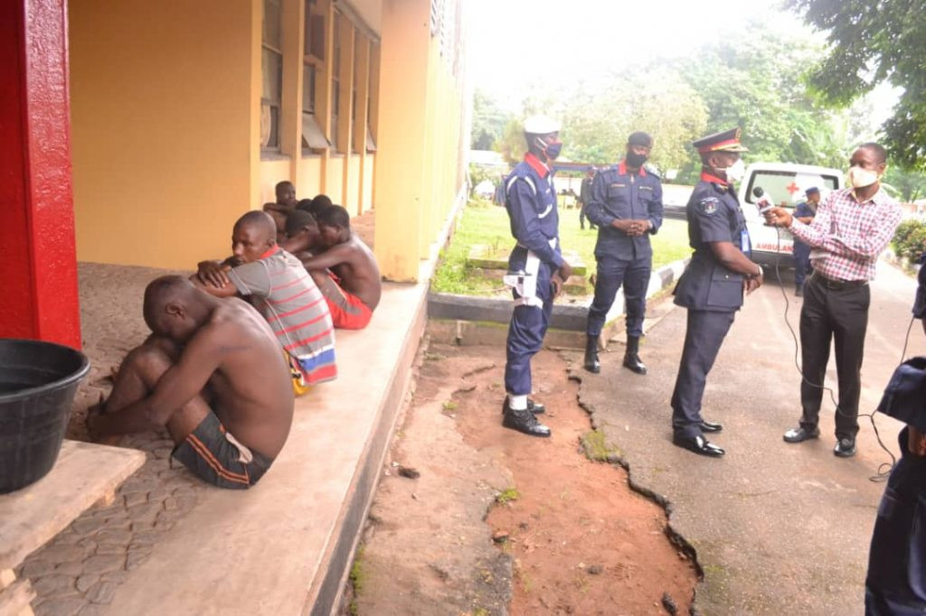 Photos: Suspected motorcycle thieves arrested in Ibadan