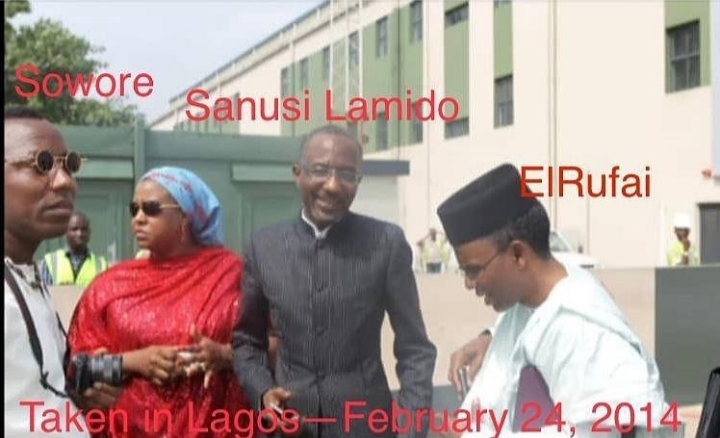 Reno Omokri shares 'rare photo' of Sanusi, El-Rufai, Sowore, accuses them of blackmailing Jonathan out of office  On it