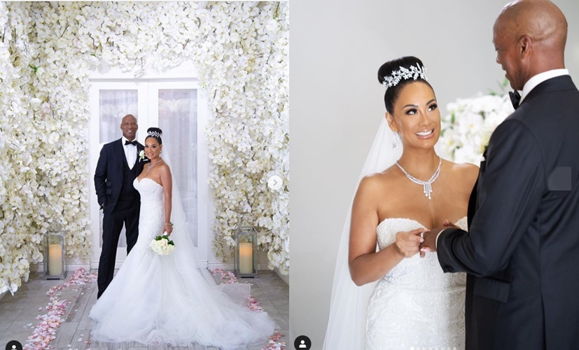 Basketball Wives' star, CeCe Gutierrez marries LA Lakers great Byron Scott in live-streamed ceremony (photos)