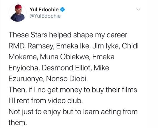 Yul Edochie reveals Nollywood actors who helped 'Shape' his career