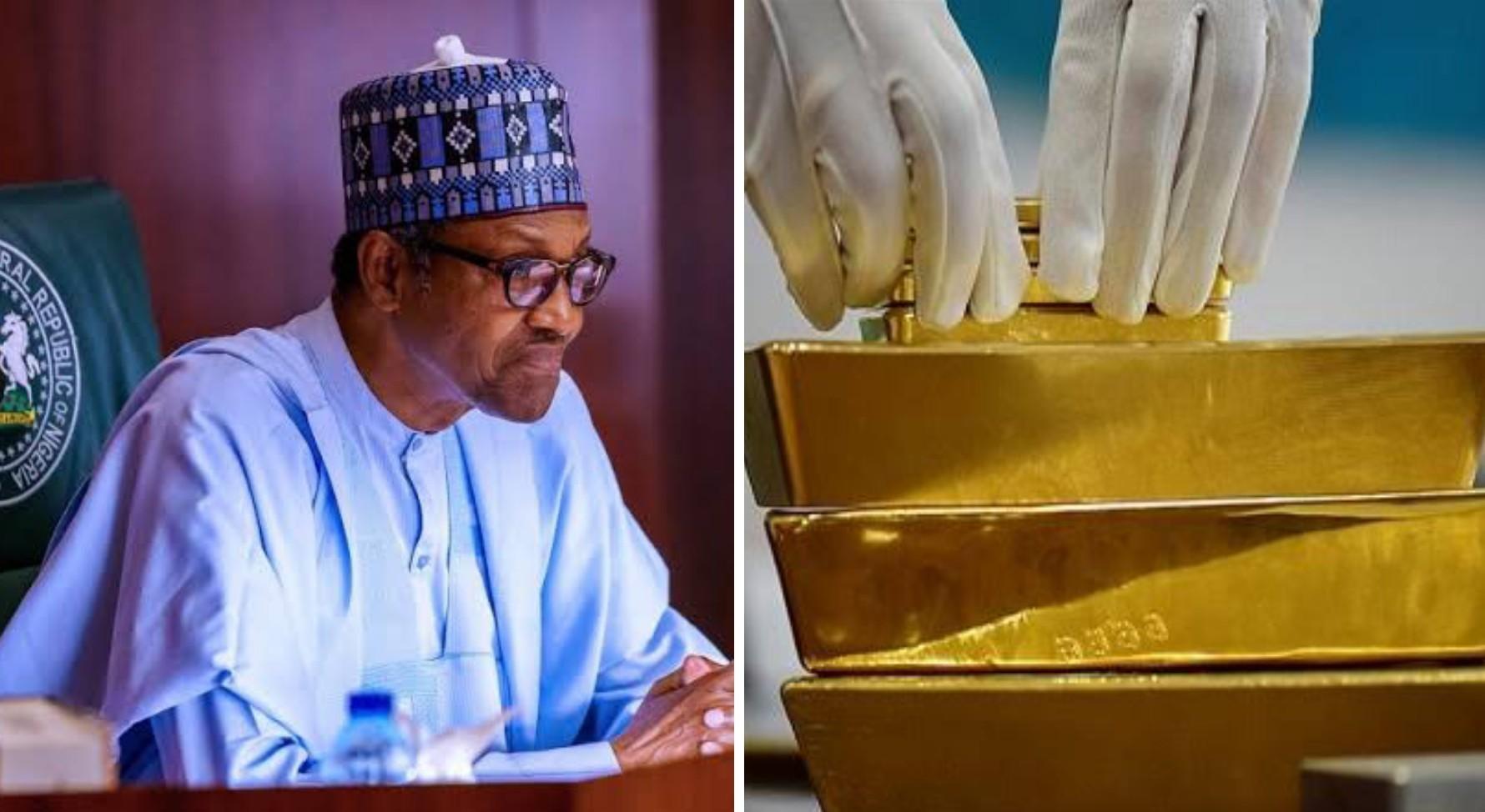Buhari receives Nigeria's first artisanally-mined gold
