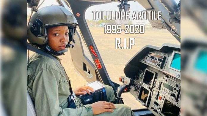 Tolulope Arotile: How Nigeria's first female combat helicopter pilot died